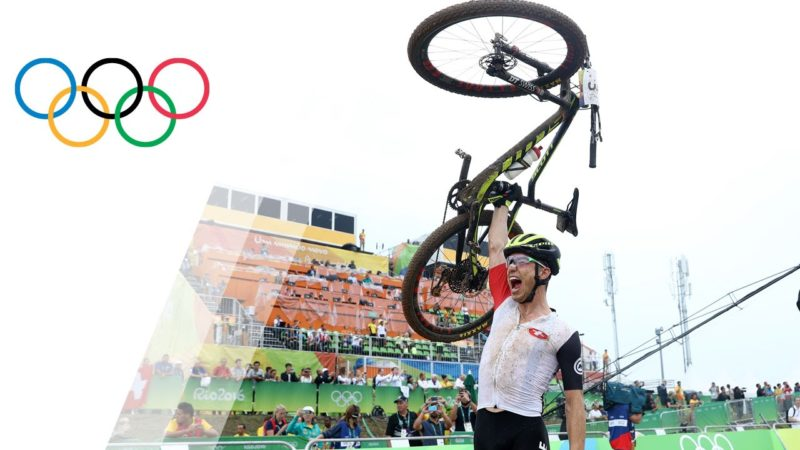 Nino Schurter wins the men's Mountain Bike competition