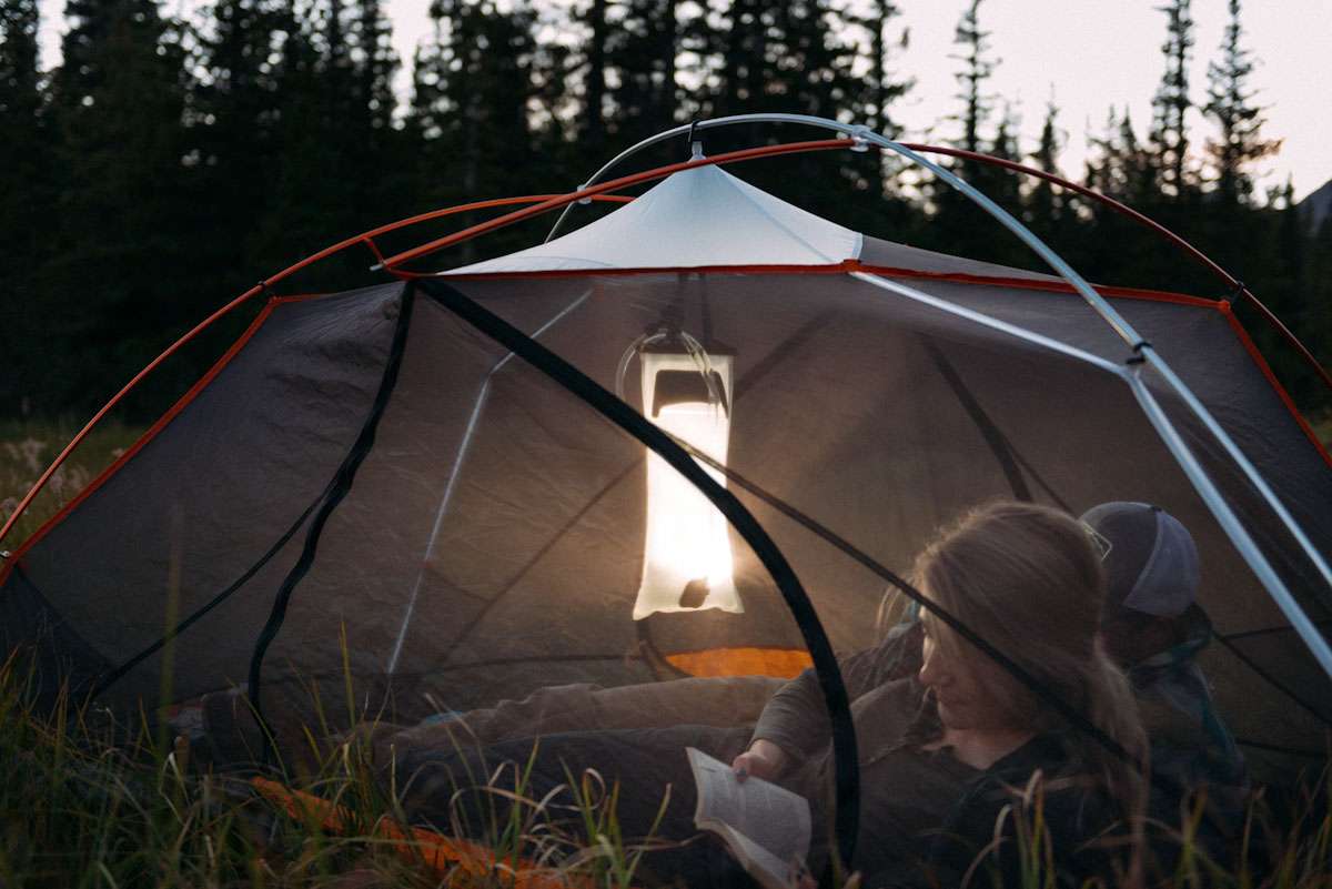Leave your lantern, light your site with Hydrolight Outdoor Gear's 2L Reservoir