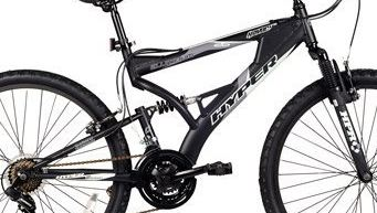 "Budget-Friendly and Fast: 26"" Hyper Havoc Full Suspension Men's Mountain Bike"