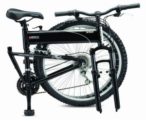 High-End and Futuristic: 18″ Montague X50 Swiss Folding Mountain Bike