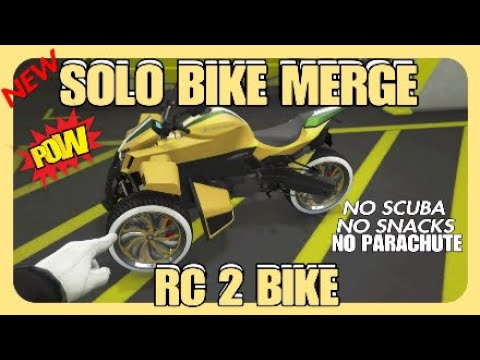 🔥NEW METHOD RC 2 BIKE MERGE GTA 5 ONLINE 🛑 BENNYS MERGE 🛑 (No snacks No scuba)