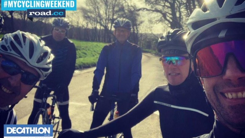 #MyCyclingWeekend – Sunshine means smiles