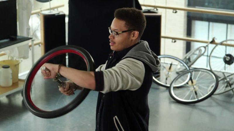 MIT Physics: Spinning Bike Wheel and Conservation of Angular Momentum