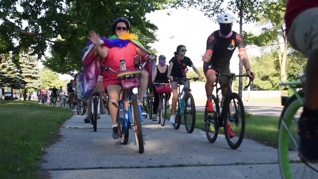Community bike ride with Muskegon Pride
