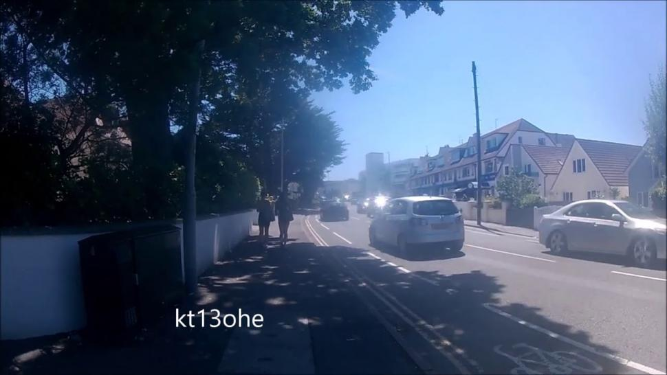 Near Miss of the Day 432: Cyclist at Sandbanks nearly taken out (+ video of traffic carnage in Dorset resort last week as day-trippers flocked to seaside)