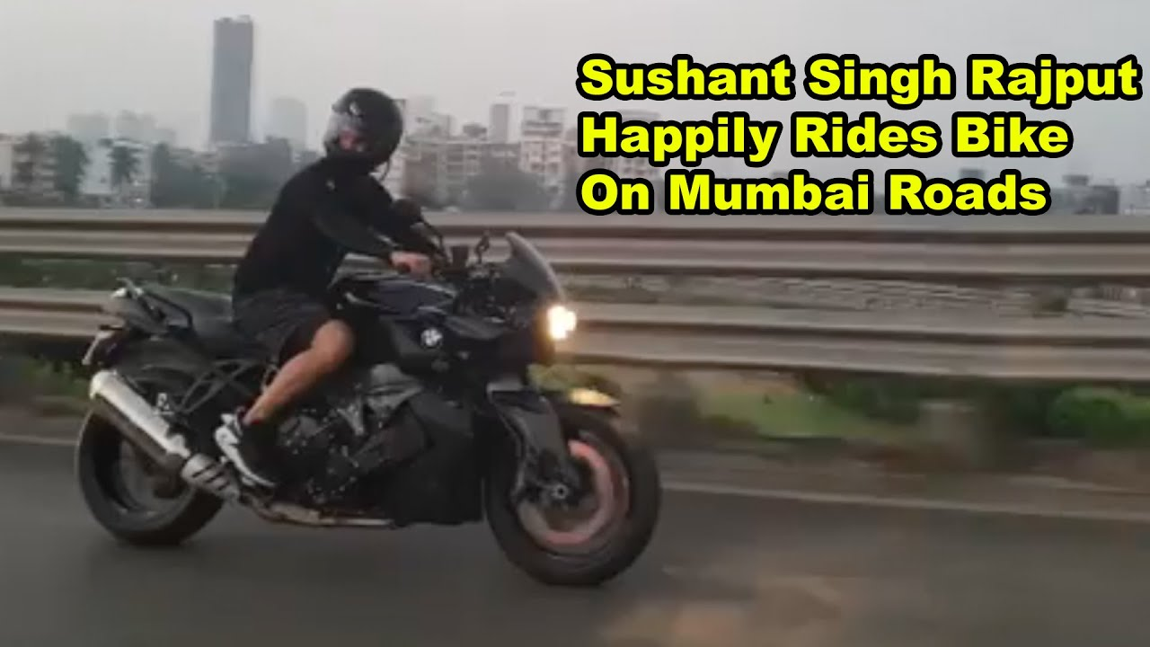 Sushant Singh Rajput Happily Rides Bike On Mumbai Roads | Such a Happy Person Can't Leave Us