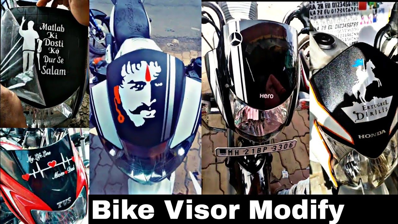 New Bike Visor Modified Sticker Tapping |All bike visor modify